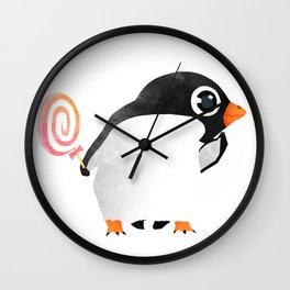 Penguin Sweetness Wall Clock