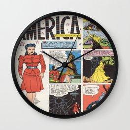 Miss America Quality Comics Wall Clock
