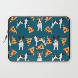 Rat Terrier pizza dog breed pet portrait dog pattern dog breeds gifts for dog lovers Laptop Sleeve