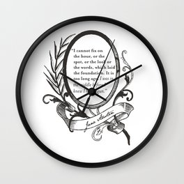 "Jane Austen ""In the Middle"" Wall Clock"