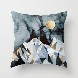 Midnight Peaks Throw Pillow