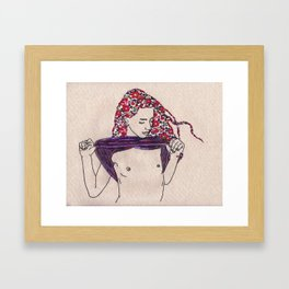 Camille's Flowers Framed Art Print