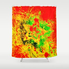 Electric Star Shower Curtain