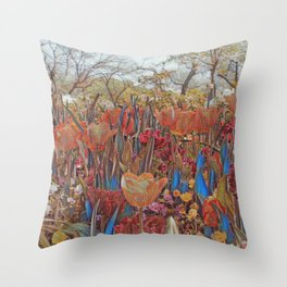 GALATHI Flower Spring is Here Rusty - Flowers Throw Pillow