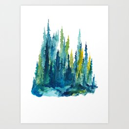 Limelight Pines - Pine Forest Art Print