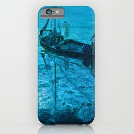 African American Masterpiece 'Disciples See Jesus Walk on Water from Boat' by Henry Ossawa Tanner iPhone Case