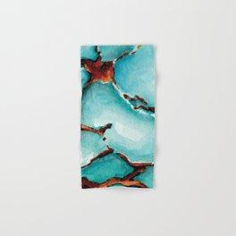 Turquoise stone watercolor Hand & Bath Towel