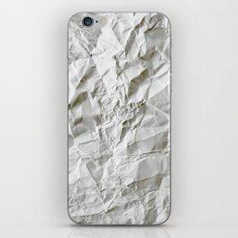 Crinkled Blues iPhone Skin
