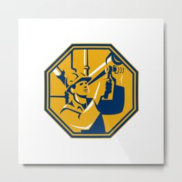 Pipefitter Maintenance Gas Worker Plumber Metal Print