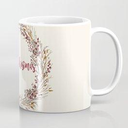 Merry Christmas Wreath Coffee Mug