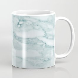 Marble Pale Teal Sea Green Marble Coffee Mug