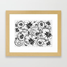 Abstract floral ornament Framed Art Print