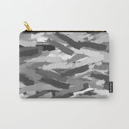 Black, White Abstract Carry-All Pouch
