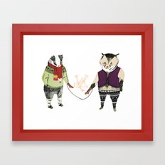 Mittens Framed Art Print