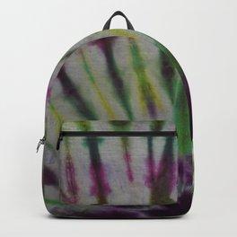 Tie Dye Pink Green Yellow Black 15 Backpack