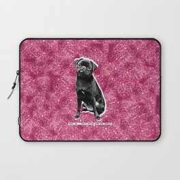 YEAH, NO...DON'T PUT ME DOWN FOR CARDIO. PINK GLITTER. Laptop Sleeve