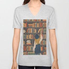 Library Love Unisex V-Neck