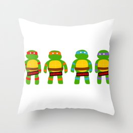 Naughty Ninja Turtles Throw Pillow
