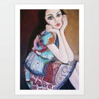 daria Art Prints featuring Daria by MartaMendes