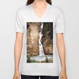 Tumbling from High Above into the Animas River Unisex V-Neck