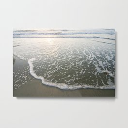 Surf at Sunset California Metal Print