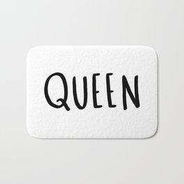 Queen - typography print Bath Mat