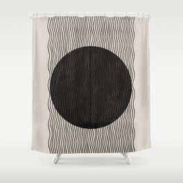 Woodblock Paper Art Shower Curtain