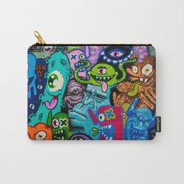Cartoon Monsters Urban Graffiti Art Carry-All Pouch