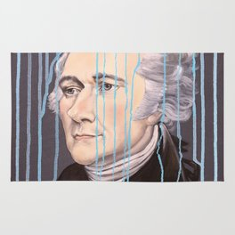 Blue Drip Alexander Hamilton Rug