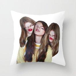 THREEE Throw Pillow