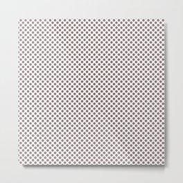 Twilight Mauve Polka Dots Metal Print