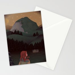 Montain Hiker Stationery Cards