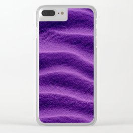 Sand_Ripples - Purple Clear iPhone Case