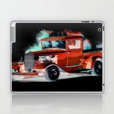 Red Street Rod By Annie Zeno  Laptop & iPad Skin