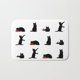 Cats-Large-Black&White Bath Mat