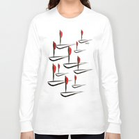 boats Long Sleeve T-shirts featuring Boats by Elly F