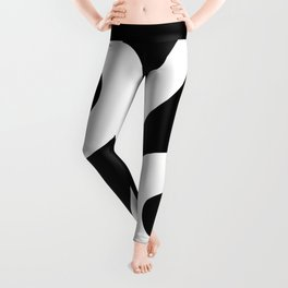 Percent Sign (White & Black) Leggings
