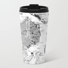 Vintage Map of Havana Cuba (1898) 2 BW Travel Mug