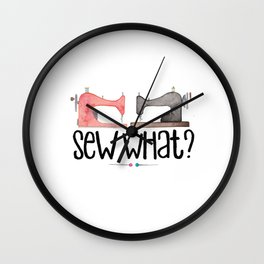 Sew What? Wall Clock