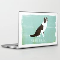 border collie Laptop & iPad Skins featuring Border Collie by 52 Dogs