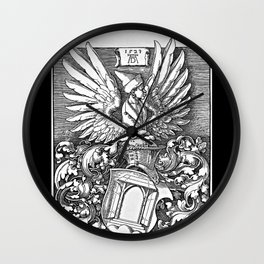Coat of Arms of the House of Dürer Wall Clock