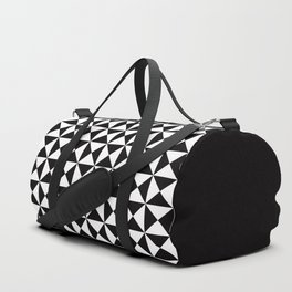 Geometric Pattern #45 (black white triangles) Duffle Bag