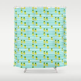 Ananas tropical summer pattern Shower Curtain