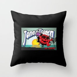 Jonestown, Oh Yeah! Throw Pillow