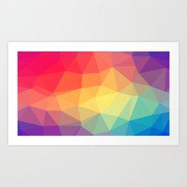 Abstract Geometric Rainbow Print Art Print