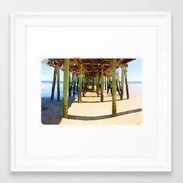 Gooch's Beach Sunset Framed Art Print