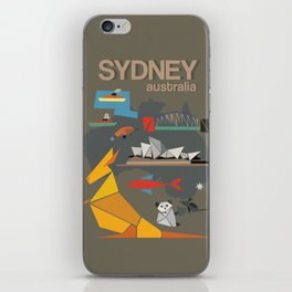 Sydney Australia Poster Version II iPhone Skin