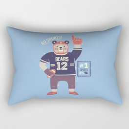 American Football Bear Rectangular Pillow