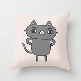 Cranky Cat Throw Pillow