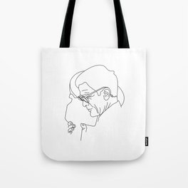 Pier Paolo Pasolini minimal line drawing Tote Bag